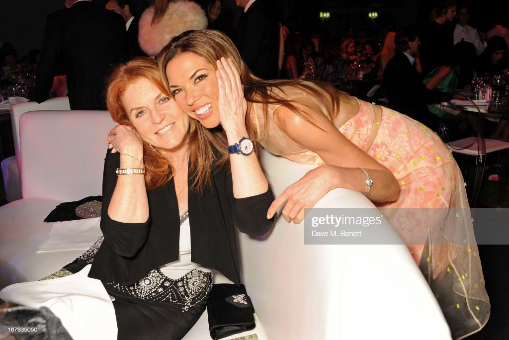 Sarah Ferguson, Duchess of York (L) and Heather Kerzner attend Gabrielle's Gala 2013 supported by Lorraine Schwartz at Battersea Power Station on May 2, 2013 in London, England.