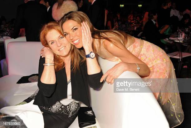 Sarah Ferguson Duchess of York and Heather Kerzner attend Gabrielle's Gala 2013 supported by Lorraine Schwartz at Battersea Power Station on May 2...