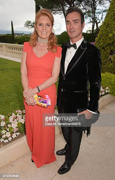 Sarah Ferguson Duchess of York and Manuel Fernandez arrive at amfAR's 22nd Cinema Against AIDS Gala Presented By Bold Films And Harry Winston at...