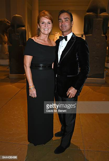 Sarah Ferguson Duchess of York and Manuel Fernandez attend the 2016 FIA Formula E Visa London ePrix gala dinner at The British Museum on July 3 2016...