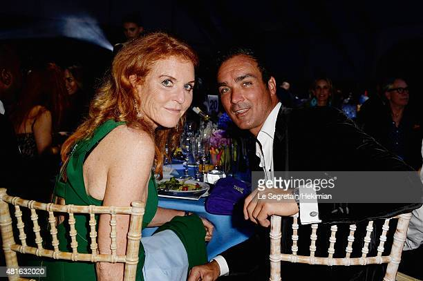 Sarah Ferguson Duchess of York and Manuel Fernandez attend The Leonardo DiCaprio Foundation 2nd Annual SaintTropez Gala at Domaine Bertaud Belieu on...
