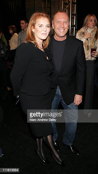 Sarah Ferguson Duchess of York and Michael Kors designer