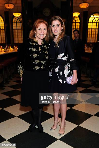 Sarah Ferguson Duchess of York and Princess Beatrice of York attend the launch of The Ned London on April 26 2017 in London England