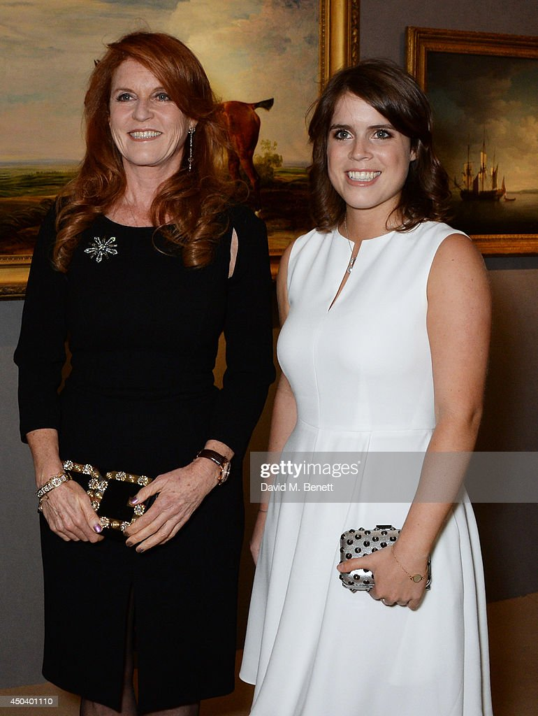 <a gi-track='captionPersonalityLinkClicked' href=/galleries/search?phrase=Sarah+Ferguson+-+Duchess+of+York&family=editorial&specificpeople=160596 ng-click='$event.stopPropagation()'>Sarah Ferguson</a> (L), Duchess of York, and <a gi-track='captionPersonalityLinkClicked' href=/galleries/search?phrase=Princess+Eugenie&family=editorial&specificpeople=160237 ng-click='$event.stopPropagation()'>Princess Eugenie</a> of York attend the Art Antiques London Gala Evening in aid of Children In Crisis at Kensington Gardens on June 10, 2014 in London, England.