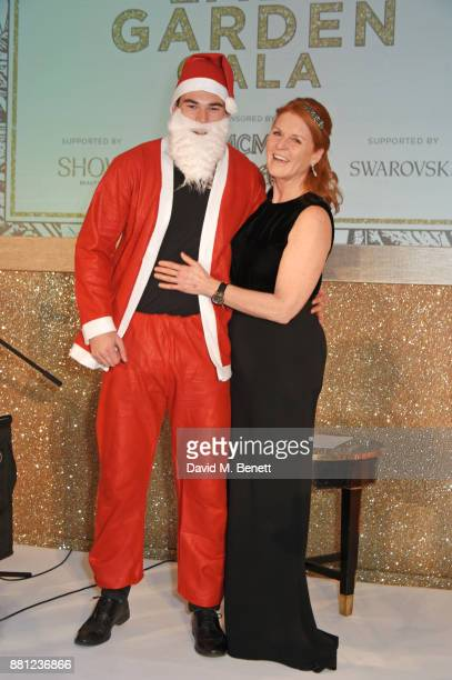 Sarah Ferguson Duchess of York and Santa Claus attend the Lady Garden Gala in aid of Silent No More Gynaecological Cancer Fund and Cancer Research UK...