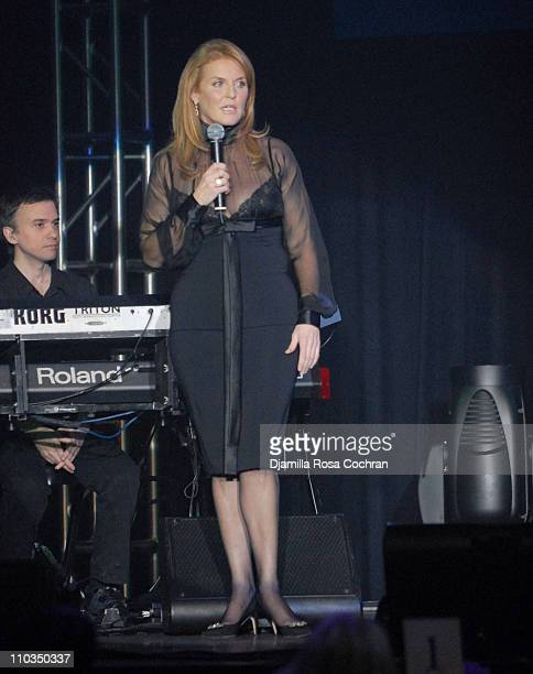 Sarah Ferguson Duchess of York attends 2007 Cipriani Wall Street Concert Series Presents Annie Lennox Show at Cipriani Wall Street on November 5th...