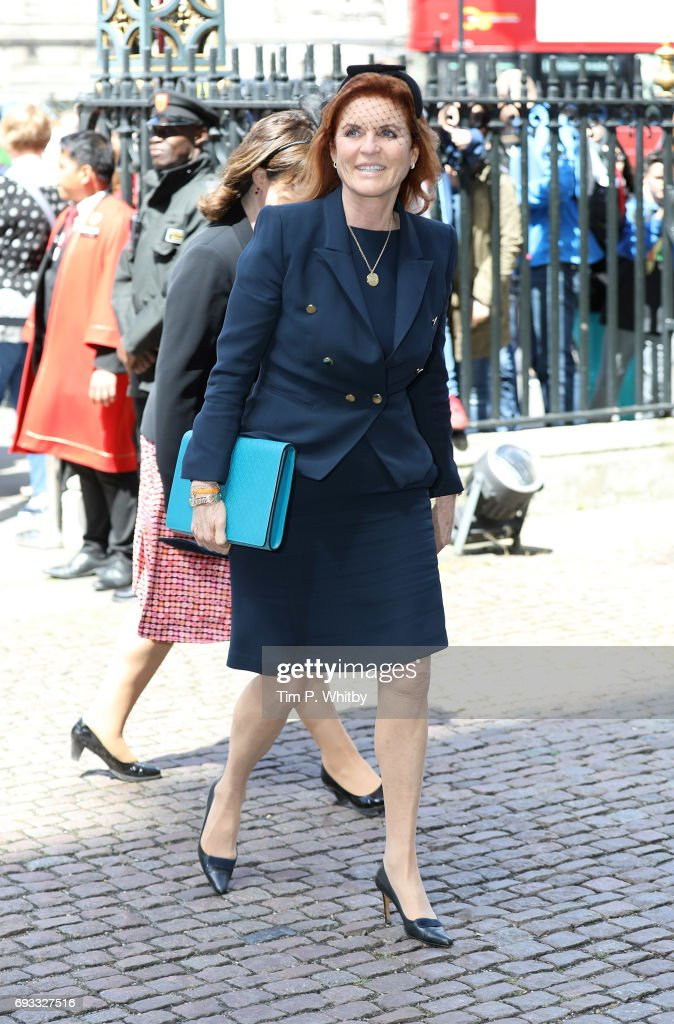 Sarah Ferguson, Duchess of York attends a memorial service for comedian Ronnie Corbett at Westminster Abbey on June 7, 2017 in London, England. Corbett died in Marh 2016 at the age of 85.
