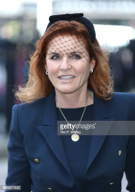 Sarah Ferguson Duchess of York attends a memorial service for comedian Ronnie Corbett at Westminster Abbey on June 7 2017 in London England Corbett...