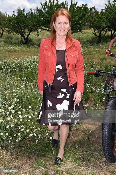 Sarah Ferguson Duchess of York attends Matchless E Bike Presentation on June 5 2016 at Casone Ugolino in Castagneto Carducci near Livorno Italy