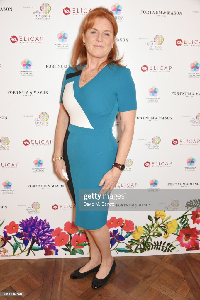 Sarah Ferguson, Duchess of York, attends the 4th annual Ladies' Lunch in support of the Silent No More Gynaecological Cancer Fund at Fortnum & Mason on September 26, 2017 in London, England.