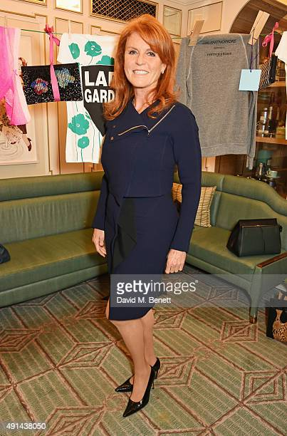 Sarah Ferguson Duchess of York attends the annual ladies' lunch in support of the Silent No More Gynaecological Cancer Fund and The Royal Marsden...