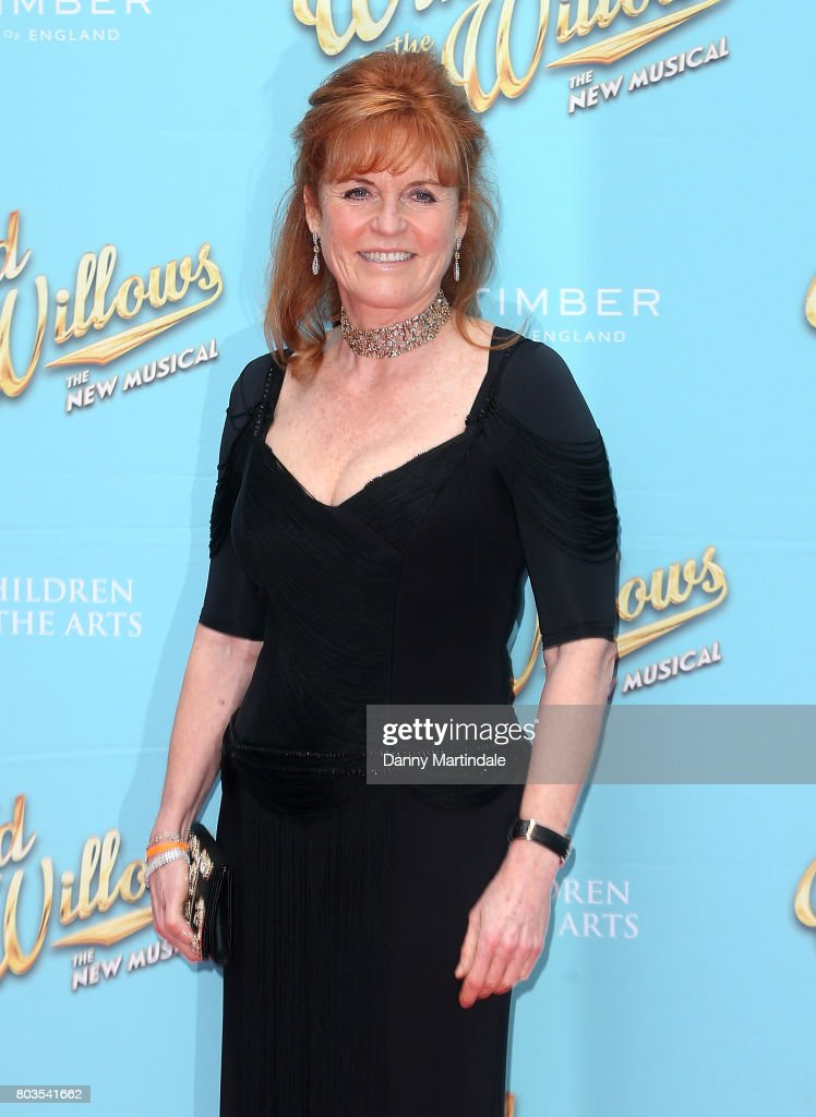 Sarah Ferguson Duchess of York attends the Gala performance of 'Wind In The Willows' at London Palladium on June 29, 2017 in London, England.