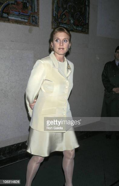 Sarah Ferguson Duchess of York during Spring 1997 Collection Benefiting Chances for Children at Pamela Dennis Showroom in New York City New York...