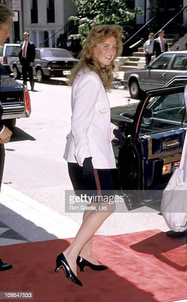 Sarah Ferguson Duchess of York on June 1 1990 during Sarah Ferguson Duchess of York at the Plaza Athanee Hotel June 1990 at Plaza Athanee Hotel in...