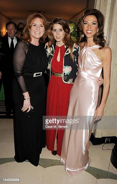Sarah Ferguson Duchess of York Princess Beatrice of York and Heather Kerzner attend the Marie Curie Cancer Fundraiser hosted by Heather Kerzner at...