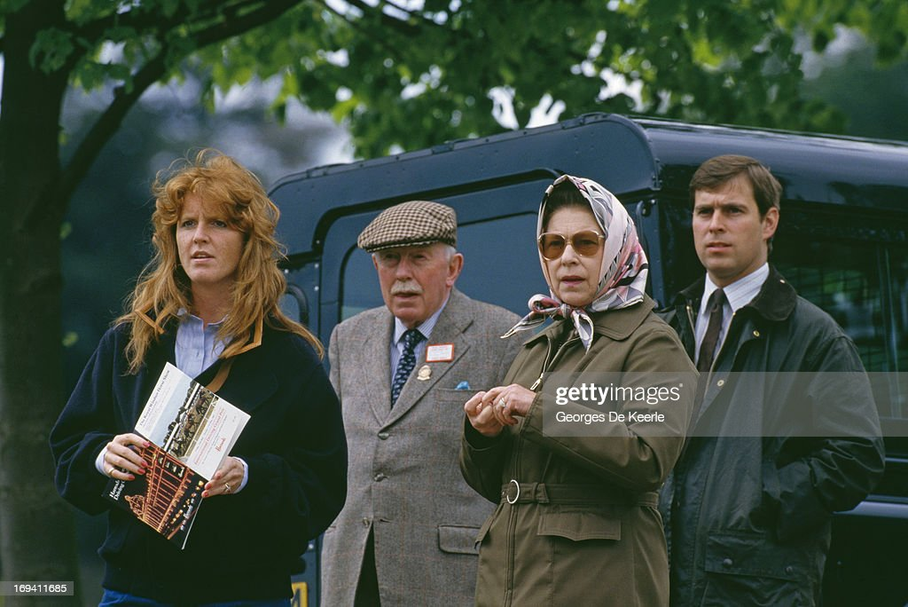 <a gi-track='captionPersonalityLinkClicked' href=/galleries/search?phrase=Sarah+Ferguson+-+Duchess+of+York&family=editorial&specificpeople=160596 ng-click='$event.stopPropagation()'>Sarah Ferguson</a>, Duchess of York, Queen <a gi-track='captionPersonalityLinkClicked' href=/galleries/search?phrase=Elizabeth+II&family=editorial&specificpeople=67226 ng-click='$event.stopPropagation()'>Elizabeth II</a>, and Prince Andrew of York at the Royal Windsor Horse Show, 16th May 1987.