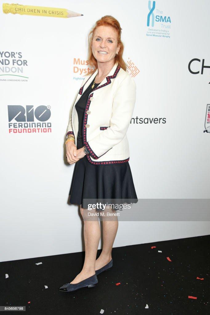 Sarah Ferguson, Duchess of York, representing Children In Crisis, attends BGC Charity Day on September 11, 2017 in London, United Kingdom.