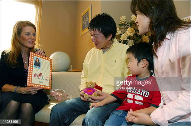 Sarah Ferguson Duchess York Visiting The Donald Mcdonald House In Setagaya Japan On November 07 2006 McDonald's World Children's Day Charity Campaign...
