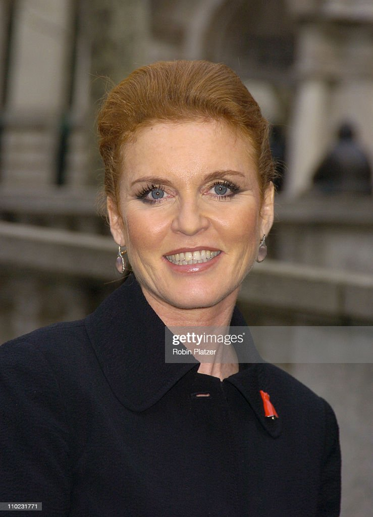 Sarah Ferguson during Olympus Fashion Week Fall 2005 - The Heart Truth Red Dress Collection Fashion Show - Departures at Olympus Fashion Week at Bryant Park in New York, New York, United States.