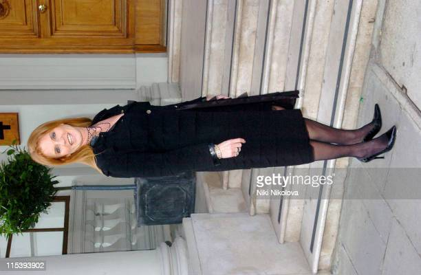 Sarah Ferguson during Salvatore Ferragamo at the Italian Embassy Arrivals at Italian Embassy in London Great Britain