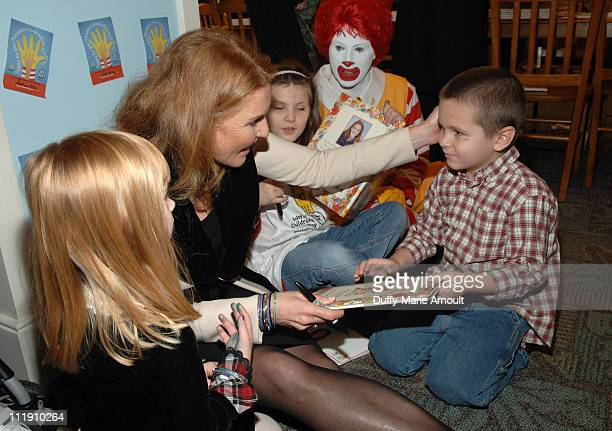 Sarah Ferguson during Sarah Ferguson and the Finalists of 'Dancing With the Stars' Visit the Ronald McDonald House to Celebrate World Children's Day...