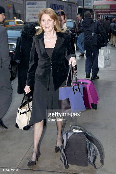 Sarah Ferguson during Sarah Ferguson Duchess of York Arrives at 'Good Morning America' January 30 2006 at New York City in New York City New York...