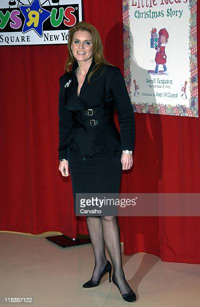 Sarah Ferguson during Sarah Ferguson Duchess of York Signs Her New Book 'Little Red's Christmas' at Toys R Us in New York City New York United States