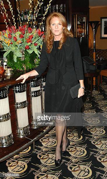 Sarah Ferguson during 'The White Countess' London Premiere After Party at Dorchester Hotel in London Great Britain