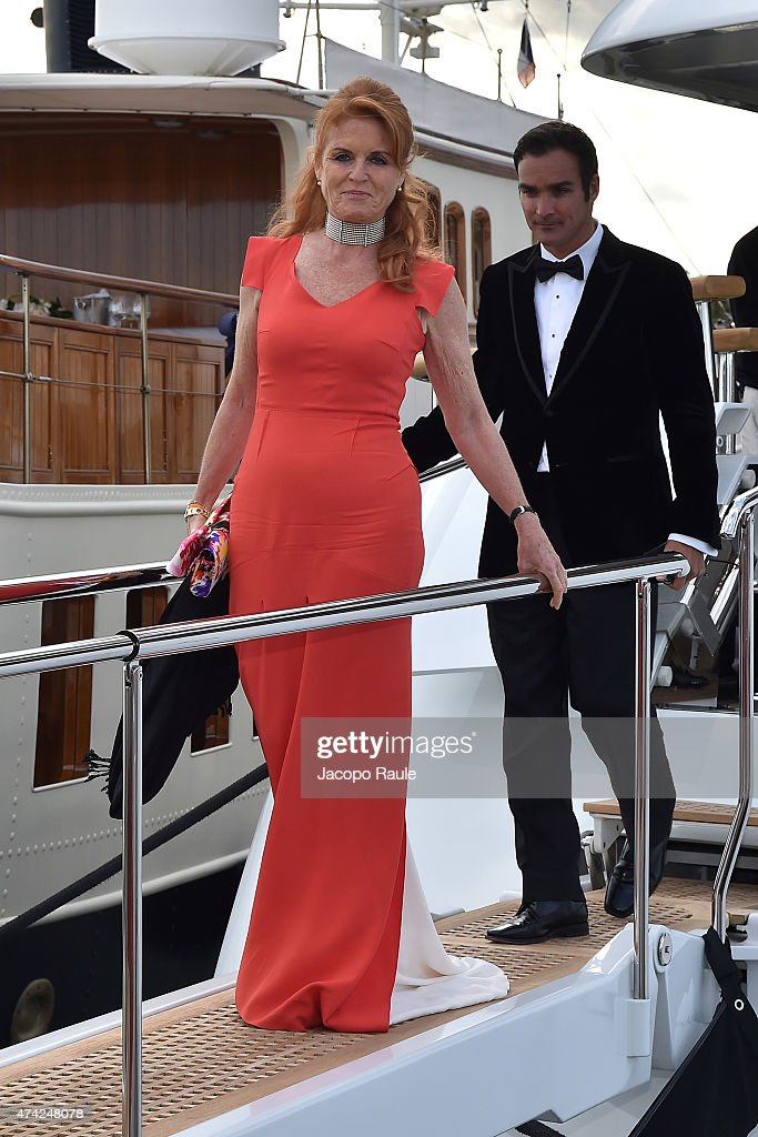 Sarah Ferguson is seen on day 9 of the 68th annual Cannes Film Festival on May 21, 2015 in Cannes, France.
