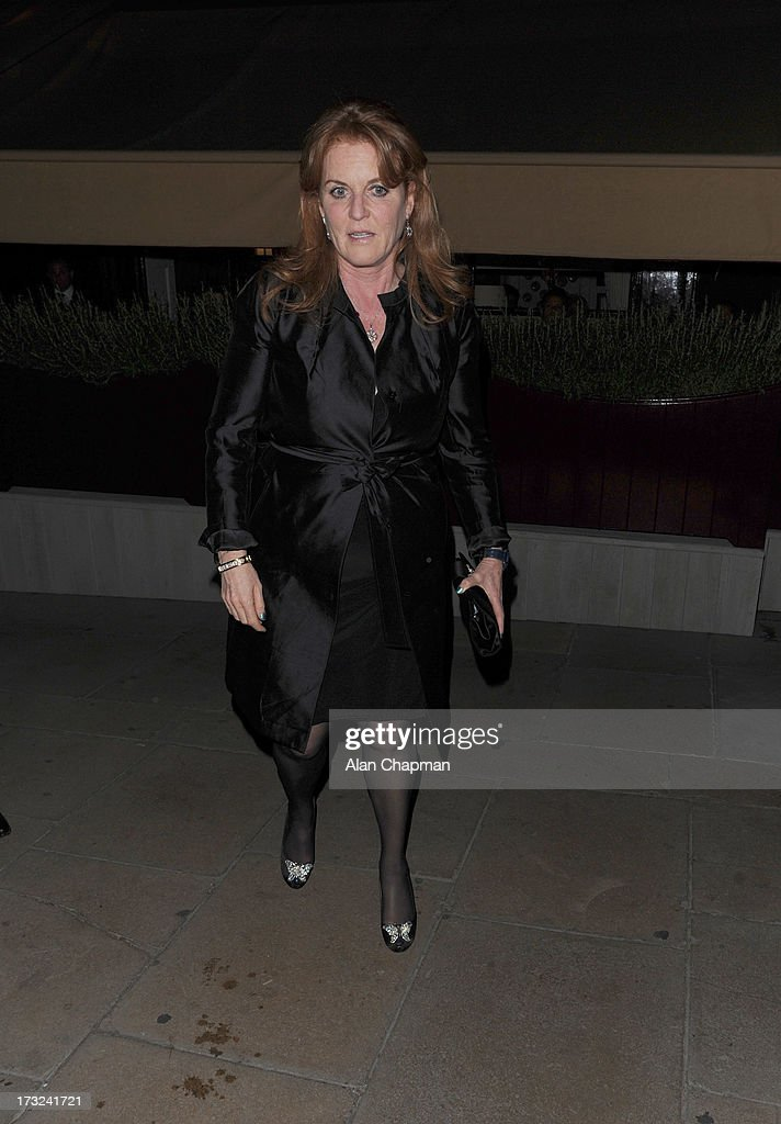 <a gi-track='captionPersonalityLinkClicked' href=/galleries/search?phrase=Sarah+Ferguson+-+Duchess+of+York&family=editorial&specificpeople=160596 ng-click='$event.stopPropagation()'>Sarah Ferguson</a> sighting at Loulou's on July 10, 2013 in London, England.