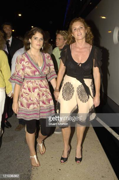 Sarah Ferguson the Duchess of York and Daughter Princess Eugenie