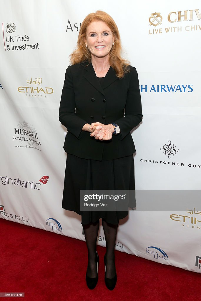 <a gi-track='captionPersonalityLinkClicked' href=/galleries/search?phrase=Sarah+Ferguson+-+Duchess+of+York&family=editorial&specificpeople=160596 ng-click='$event.stopPropagation()'>Sarah Ferguson</a>, the Duchess of York, attends The British American Business Council Los Angeles 54th Annual Christmas Luncheon at Fairmont Miramar Hotel on December 13, 2013 in Santa Monica, California.