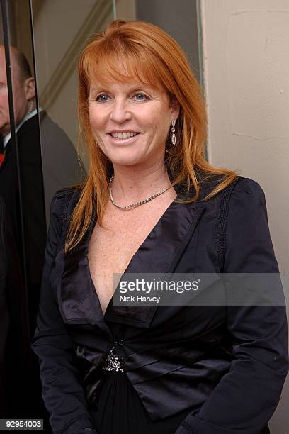 Sarah Ferguson the Duchess of York attends the Royal Rajasthan charity Gala on November 9 2009 in London England