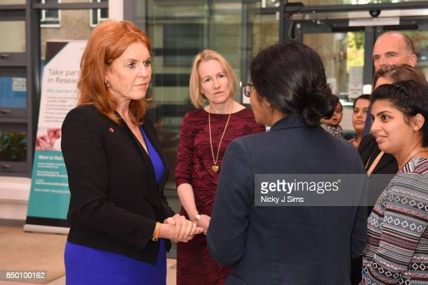 Sarah Ferguson The Duchess of York is appointed as an official ambassador of The British Heart Foundation at The William Harvey Research Institute on...