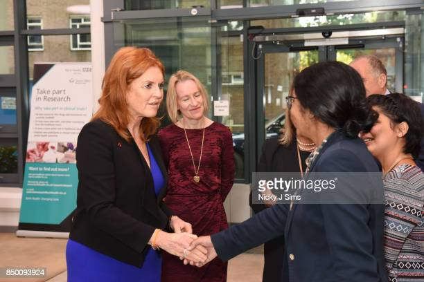 Sarah Ferguson The Duchess of York speaks with BHF Basic Science Research Fellow Dr Suchita Nadkarni on the day that she is appointed as an official...