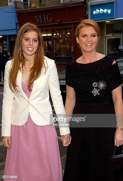 Sarah Ferguson The Duchess Of York With Her 16yearold Daughter Princess Beatrice At The Electric Cinema For The Uk Premiere Of The New Walt Disney...