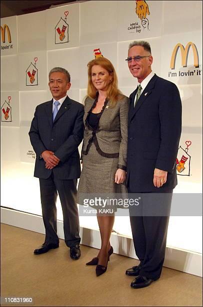 Sarah Ferguson Visits Japan As Global Ambassador For World Children'S Day In Tokyo Japan On November 06 2006 Sarah FergusonDuchess of York Specially...