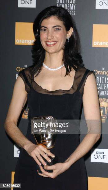 Sarah Flack with her Best Editing award for Lost in Translation at the Orange British Academy Film Awards at the Odeon Leicester Square in London