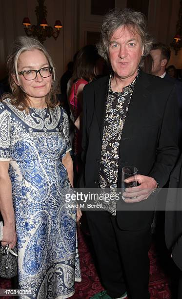 Sarah Frater and James May attend as Audi hosts the opening night performance of 'La Fille Mal Gardee' at The Royal Opera House on April 23 2015 in...