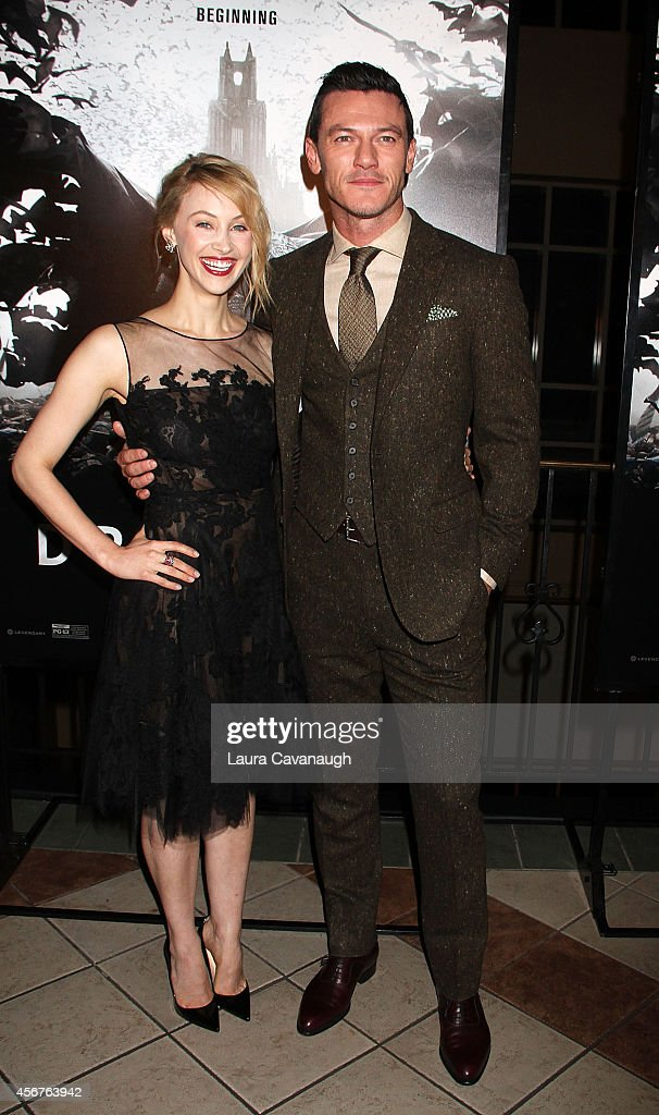 Sarah Gadon and Luke Evans attend 'Dracula Untold' New York Premiere at AMC Loews 34th Street 14 theater on October 6, 2014 in New York City.