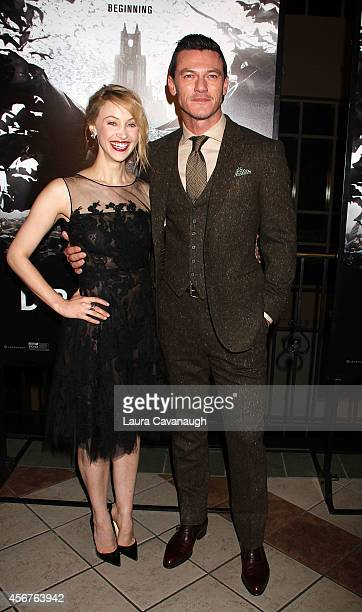 Sarah Gadon and Luke Evans attend 'Dracula Untold' New York Premiere at AMC Loews 34th Street 14 theater on October 6 2014 in New York City