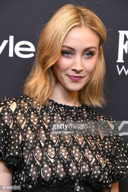 Sarah Gadon arrives at the Hollywood Foreign Press Association And InStyle Celebrate The 75th Anniversary Of The Golden Globe Awards at Catch LA on...