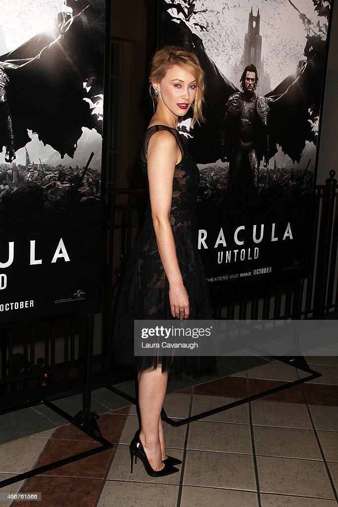 Sarah Gadon attends 'Dracula Untold' New York Premiere at AMC Loews 34th Street 14 theater on October 6, 2014 in New York City.