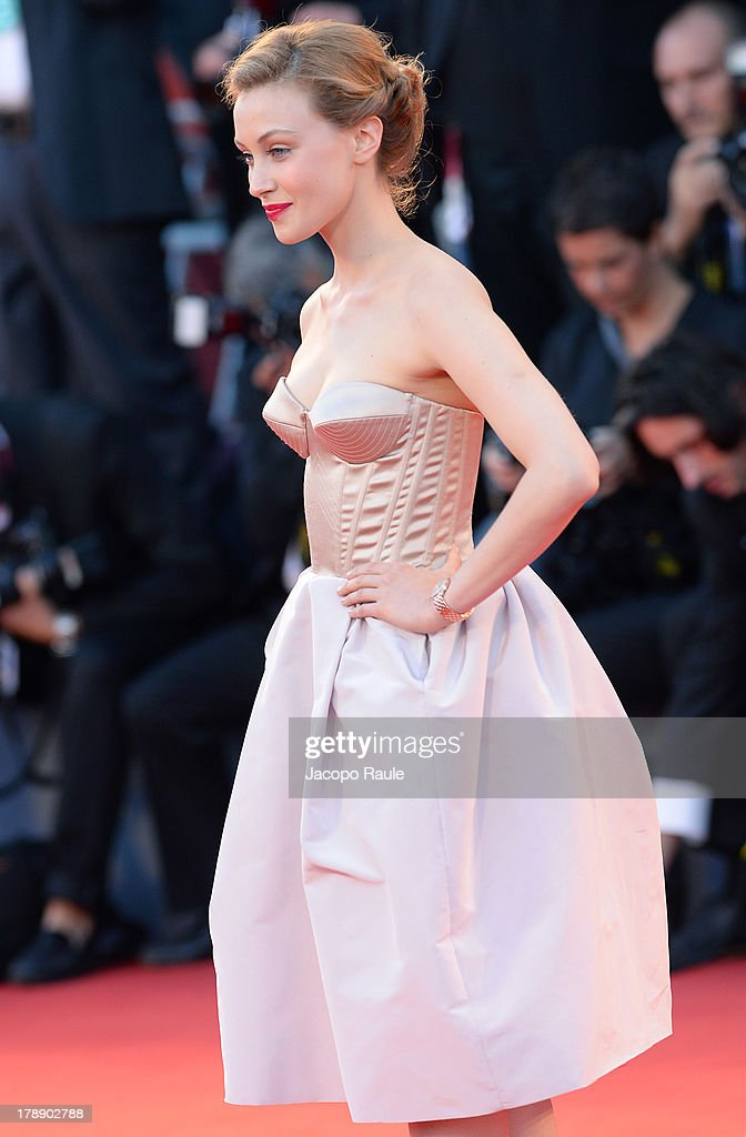 Sarah Gadon attends 'Joe' Premiere at the 70th Venice International Film Festival at Palazzo del Cinema on August 30, 2013 in Venice, Italy.