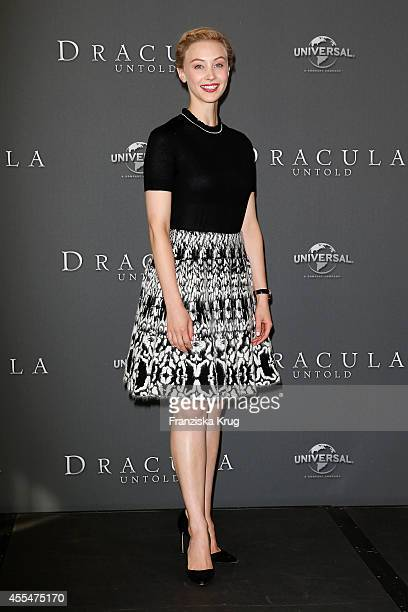 Sarah Gadon attends the 'Dracula Untold' Photocall at the Ritz Carlton on September 15 2014 in Berlin Germany