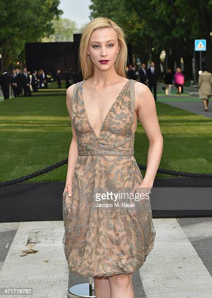 Sarah Gadon attends the Giorgio Armani 40th Anniversary Silos Opening And Cocktail Reception on April 30 2015 in Milan Italy
