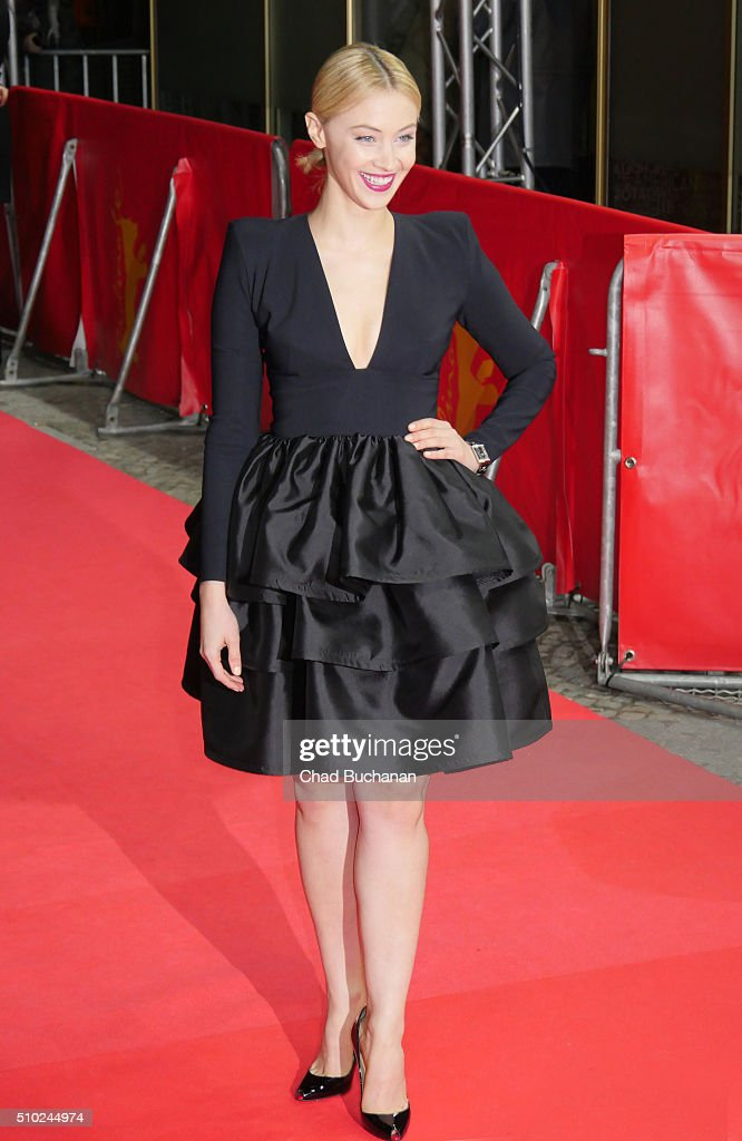 Sarah Gadon attends the 'Indignation' premiere during the 66th Berlinale International Film Festival Berlin at Zoo Palast on February 14, 2016 in Berlin, Germany.