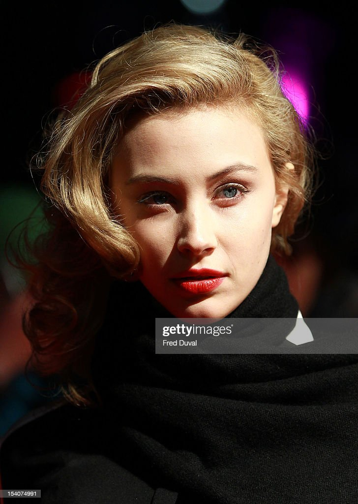 Sarah Gadon attends the premiere of 'Antiviral' at the 56th London Film Festival at Odeon Leicester Square on October 13, 2012 in London, England.