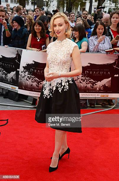Sarah Gadon attends the UK Premiere of 'Dracula Untold' at Odeon West End on October 1 2014 in London England