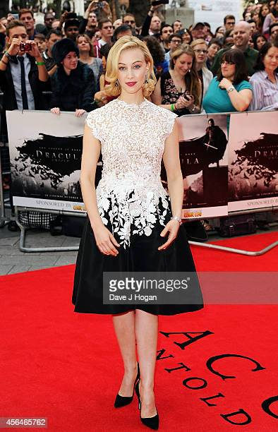 Sarah Gadon attends the UK premiere of Dracula Untold at Odeon West End on October 1 2014 in London England